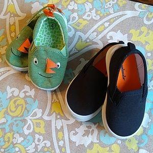 Baby Size 4 Sneaker Bundle - Black & Dinosaur